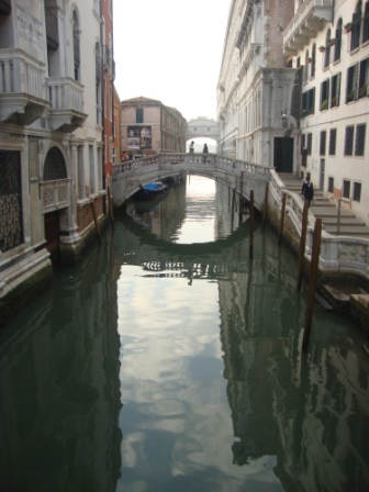 Bridge of Sighs and stillness of Venice in Morning