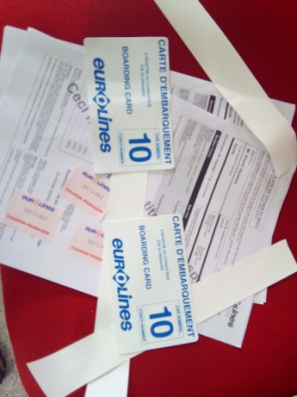 Tickets and Boarding Pass for Eurolines Barcelona