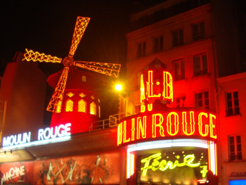 Moulin Rouge at Montmartre Paris