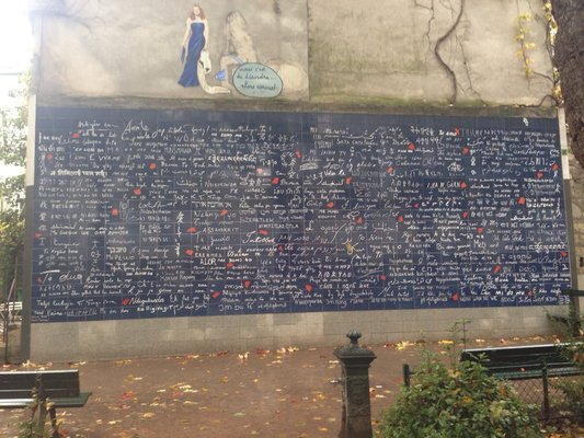 Wall of Love at Montmartre Paris