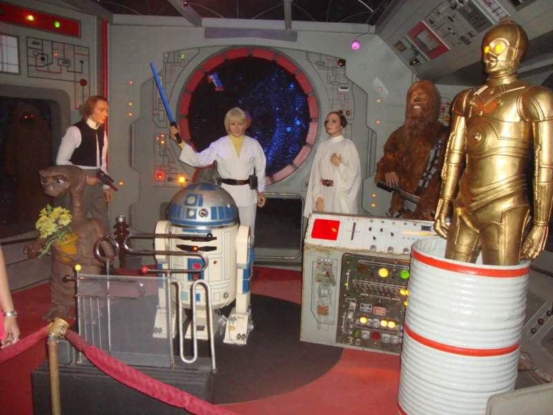 Museo de cera de barcelona. the space section at Wax museum barcelona