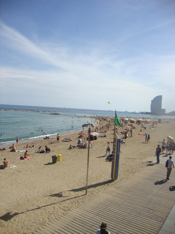 La Barceloneta Beach is one of the Barcelona Beaches