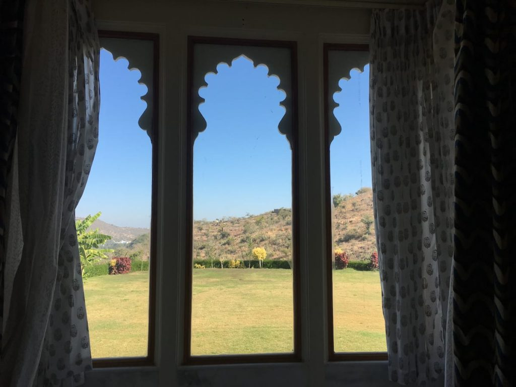 View from Rooms at Just Brij Bhoomi Resort, best place to stay in Nathdwara