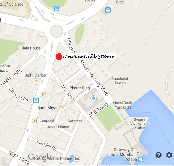 Location of Univercell Store, Colaba