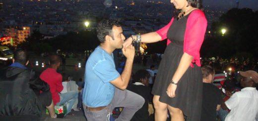 Proposal at Sacre Coeur, Montmartre Paris