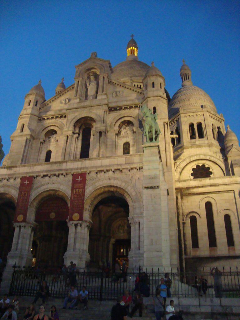 Facade of sacré coeur, Montmartre Paris