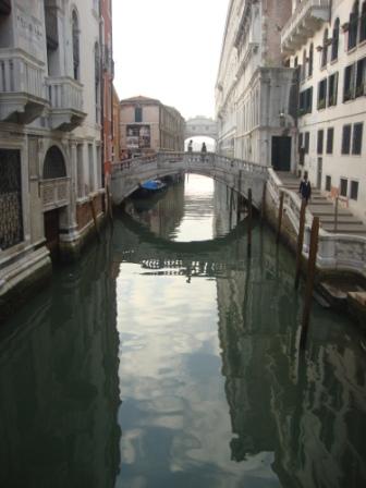 Bridge of Sighs and stillness of Venice in Morning