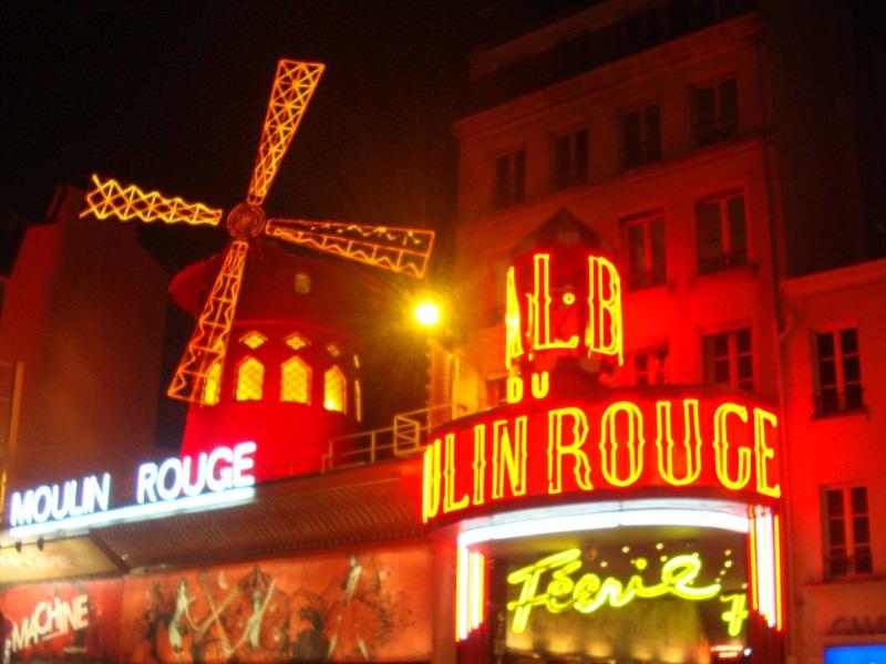 Moulin Rouge at Montmartre Paris
