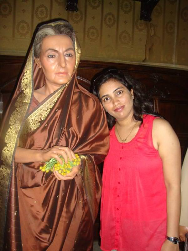 Museo de cera de barcelona. Indira Gandhi at world leaders section at Wax museum barcelona