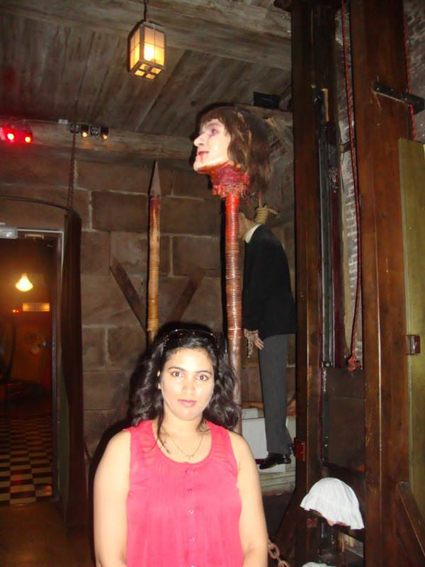 Museo de cera de barcelona. the horror section at Wax museum barcelona