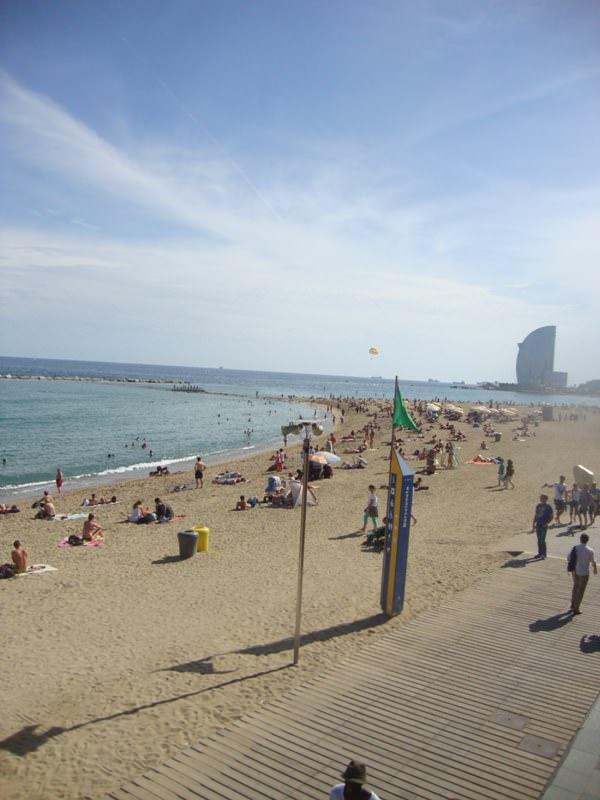 La Barceloneta Beach is one of the Barcelona Beaches
