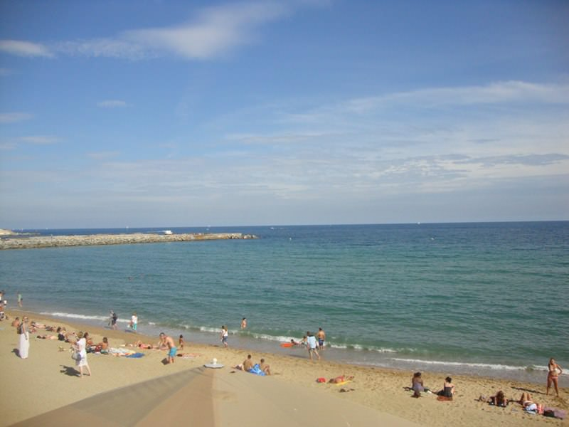 La Mar Bella Beach is one of the unofficially nudist barcelona beaches