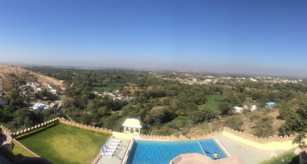 View from Just Brij Bhoomi Resort, bets place to stay at Nathdwara