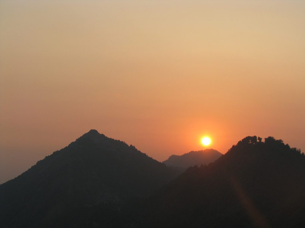 Mussoorie sunset