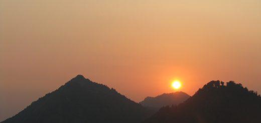Mussoorie sunset